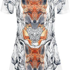 Comprar Innocent Geometric Fox Camiseta Mujer multicolores