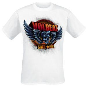 Comprar Volbeat Dimension Skullwing Camiseta Blanco