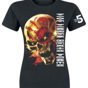 Comprar Five Finger Death Punch Justice For None Skull Camiseta Mujer Negro