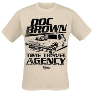 Comprar Regreso al Futuro Doc Brown Time Travel Agency Camiseta Arena