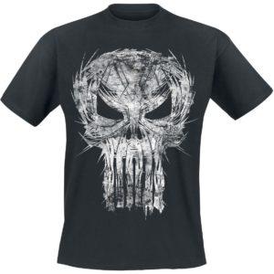 Comprar The Punisher Shatter Skull Camiseta Negro
