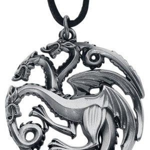 Comprar Juego de Tronos House Targaryen Colgante en cadena de cuero Standard