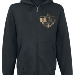 Comprar Volbeat Anchor Sudadera capucha con cremallera Negro