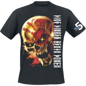 Comprar Five Finger Death Punch Justice For None Skull Camiseta Negro