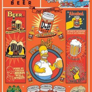 Comprar Los Simpsons Duff Beer Póster multicolor
