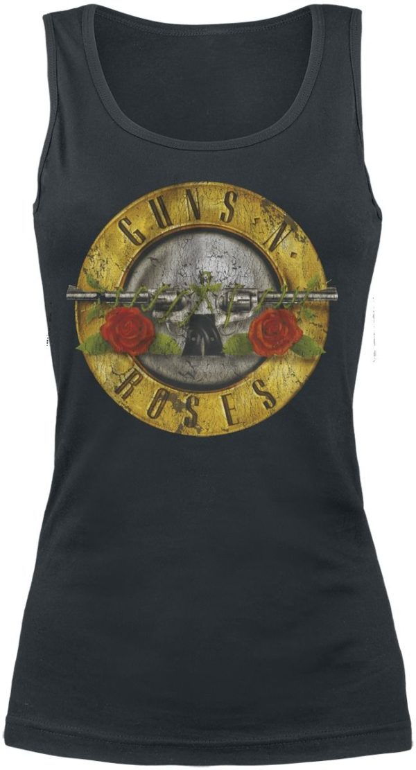 Comprar Guns N' Roses Distressed Bullet Top Mujer Negro