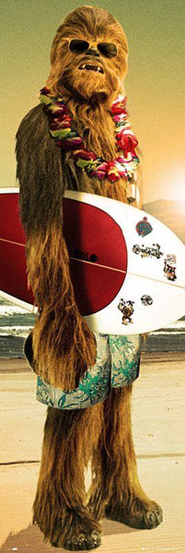 Comprar Star Wars Chewbacca - Surfin' Póster de puerta multicolor