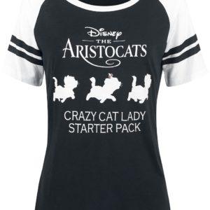 Comprar Los Aristogatos Crazy Cat Lady Camiseta Mujer negro-blanco