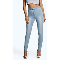 Comprar Jeans tubo con cintura alta