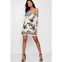 Comprar Vestido adornado con hombros descubiertos boutique