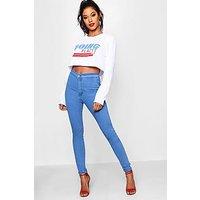 Comprar Jeans tubo azules de talle alto