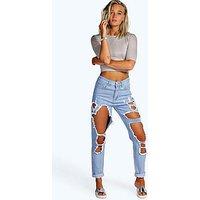 Comprar Jeans estilo mom con aberturas