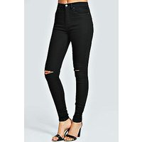 Comprar Jeans largos negros con 5 bolsillos