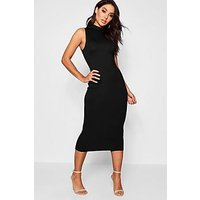 Comprar Turtle Neck Sleeveless Midi Bodycon Dress