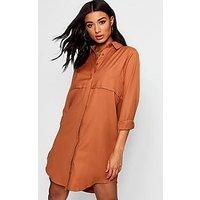 Comprar Vestido estilo camisa tejido con solapa doble