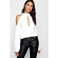 Comprar Blusa con hombros descubiertos y aberturas en las mangas