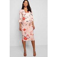 Comprar Vestido midi floral con collar pronunciado Rose Premamá