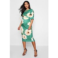 Comprar Maternity Floral Split Sleeve Wiggle Midi Dress