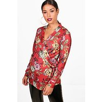 Comprar Maternity Wrap  Front Oriental Blazer Top