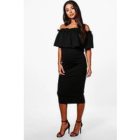 Comprar Maternity Off Shoulder Ruffle Midi Dress