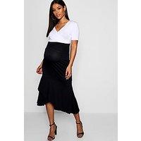 Comprar Maternity Wrap Over Frill Midi Skirt