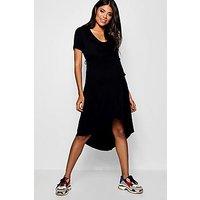 Comprar Maternity Wrap Front Belted T Shirt Dress