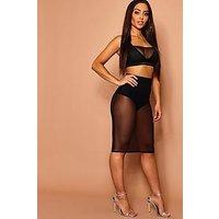 Comprar Mesh Fitted Midi Skirt