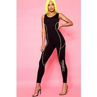Comprar Woman Contrast Stitch Disco Slinky Catsuit