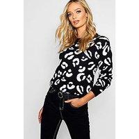 Comprar Jersey de punto con estampado de leopardo