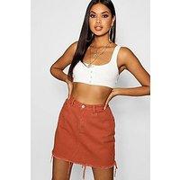 Comprar Minifalda en denim ladrillo
