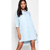 Comprar Vestido estilo camisa de denim con botones de cuerno