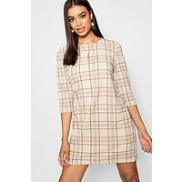 Comprar Tonal Check 3/4 Sleeve Shift Dress