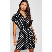 Comprar Woven Polka Dot Belted Shirt Dress