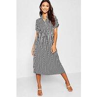 Comprar Woven Striped Midi Shirt Dress
