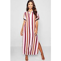 Comprar Tonal Stripe Collarless Shirt Dress