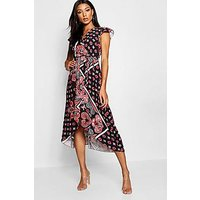 Comprar Paisley Print Wrap Front Maxi Dress
