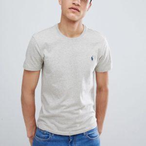 Comprar Camiseta lisa gris con cuello redondo de Polo Ralph Lauren