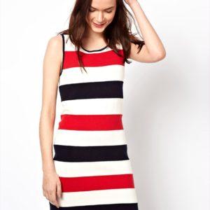 Comprar Vestido de punto a rayas sin mangas de Milly