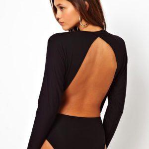 Comprar Body con espalda abierta y manga de murciélago de ASOS
