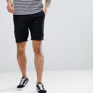 Comprar Pantalones cortos chinos ajustados en negro de ASOS DESIGN