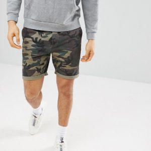 Comprar Pantalones cortos chinos con estampado de camuflaje de ASOS