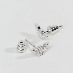 Comprar Pendientes de botón con águila y cristales EG3027040 de Emporio Armani