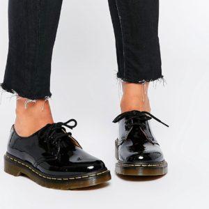 Comprar Zapatos planos clásicos de charol negro 1461 de Dr Martens