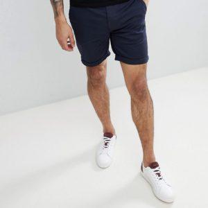 Comprar Pantalones cortos chinos de corte slim en azul marino de ASOS DESIGN