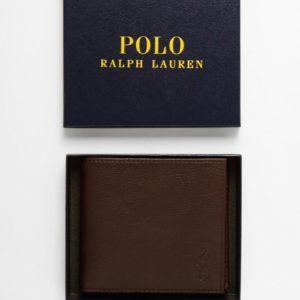 Comprar Cartera plegable de cuero con bolsillo monedero de Polo Ralph Lauren