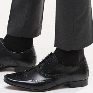 Comprar Zapatos Oxford de cuero negro de ASOS DESIGN
