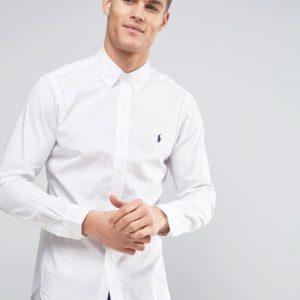Comprar Camisa de popelina blanca de corte slim de Polo Ralph Lauren