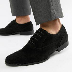 Comprar Zapatos Oxford negros de antelina de ASOS DESIGN