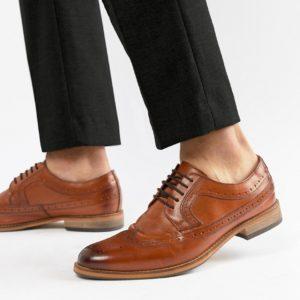 Comprar Zapatos Oxford en cuero tostado pulido de ASOS DESIGN
