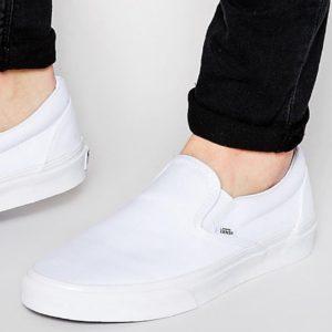 Comprar Zapatillas blancas sin cordones VEYEW00 de Vans Classic